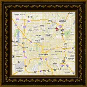 Map of Indianapolis Picture Frames
